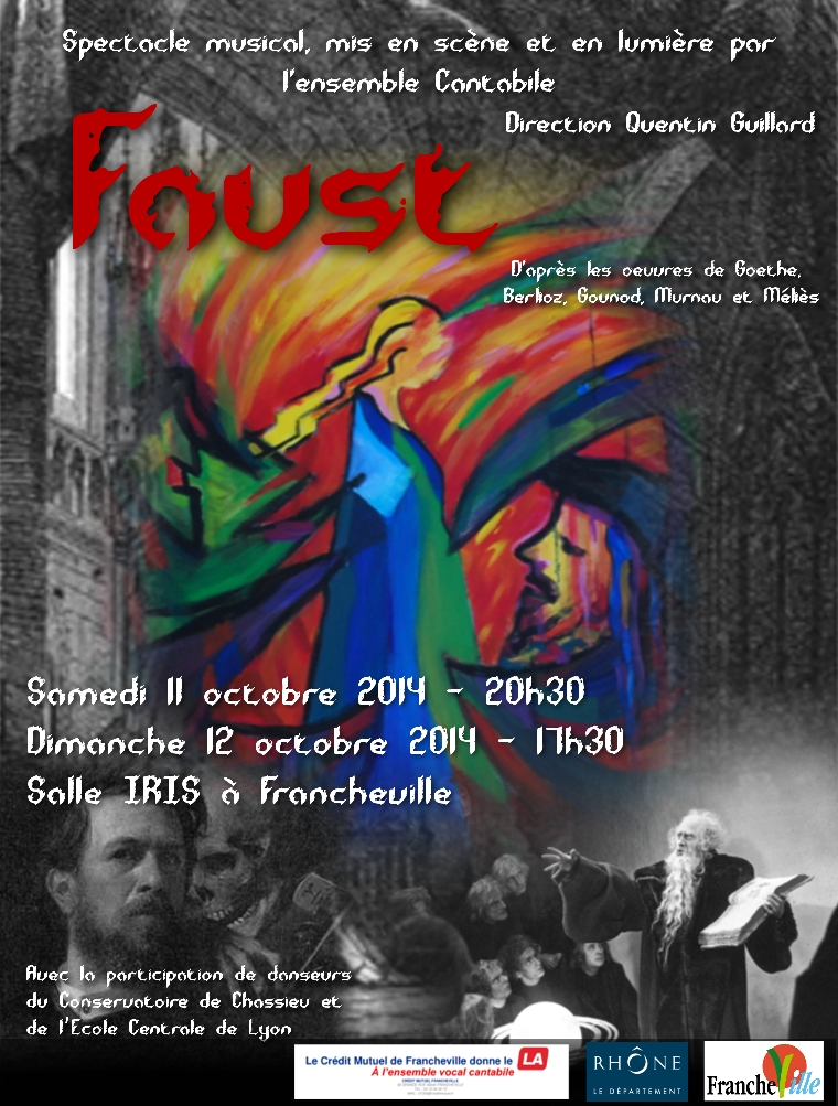 Affiche Spectacle Faust